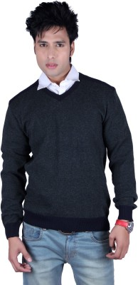 Deutz V-neck Solid Men,s Pullover