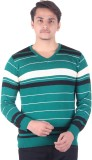 Numalo Striped V-neck Casual Men Green, ...