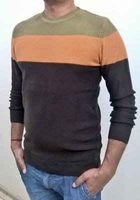 Locus Classicus Striped Round Neck Men's Multicolor Sweater