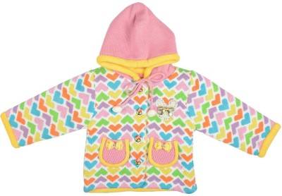 Palmer Solid Round Neck Girl,s Multicolor Sweater