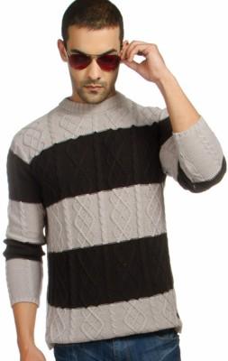 Provogue Striped Round Neck Casual Men's Multicolor Sweater