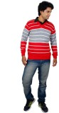 Alpine Enterprises Striped V-neck Men Mu...