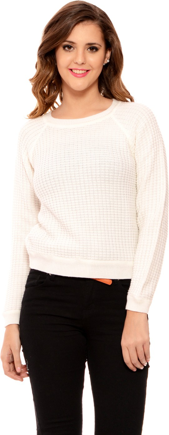 MSMB Solid Round Neck Casual Women's Sweater