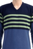 CLUB AVIS USA Striped V-neck Casual Men ...