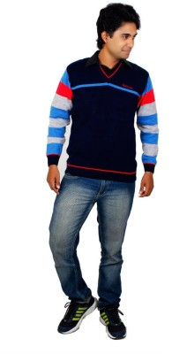Alpine Enterprises Solid V-neck Men's Multicolor Sweater