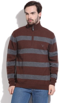 Gant Striped Casual Men's Brown, Grey Sweater