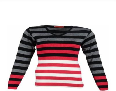 silvy Solid V-neck Women's Black Sweater