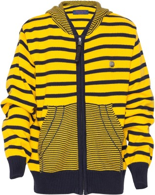 Status Quo Cubs Striped V-neck Casual Boy's Multicolor Sweater
