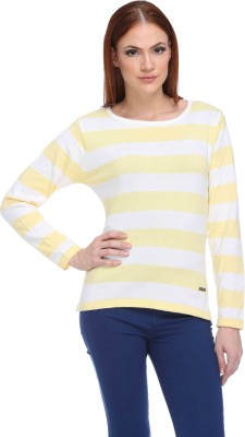CLUB YORK Striped Round Neck Casual Women Multicolor Sweater at flipkart