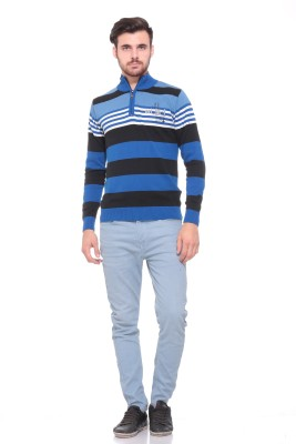 Pro Riders Solid Turtle Neck Casual Men's Blue, Black Sweater