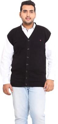 John Pride Solid V-neck Men's Black Sweater