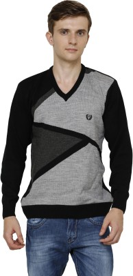 Leebonee V-neck Graphic Print Mens Pullover
