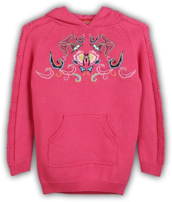 Lilliput Embroidered Turtle Neck Girls Sweater