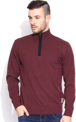 HRX by Hrithik Roshan Solid Turtle Neck Casual Men's Pink Sweater