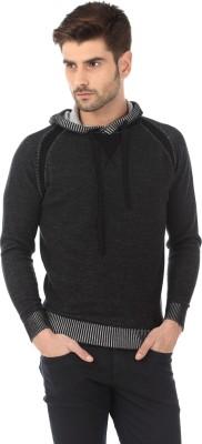 Basics Solid Turtle Neck Casual Men's Black Sweater