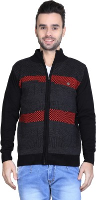 BRAVEZI Self Design Round Neck Casual Men,s Black, Grey, Red Sweater