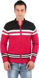 Oxemberg Striped V-neck Formal Men Red S...