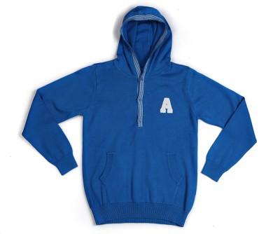 Allen Solly Self Design Round Neck Boy's Blue Sweater