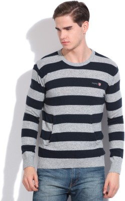 Pepe Jeans Striped Casual Men,s Grey, Blue Sweater