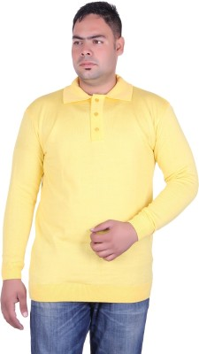 Vivid Bharti Solid V-neck Wedding, Casual, Party, Formal, Festive Men's Yellow Sweater