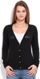 Puma Solid Casual Women Black Sweater