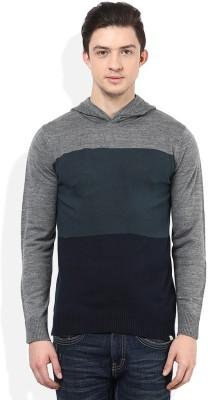 Numero Uno Striped Round Neck Casual Men's Blue, Grey, Black Sweater