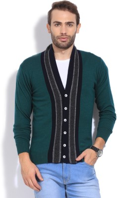 Arrow Sports Solid Casual Men's Green Sweater