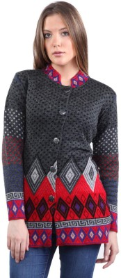 Kyc Woven Round Neck Casual Women's Black Sweater