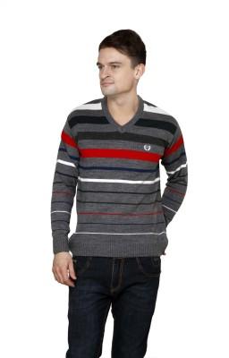 Leebonee V-neck Striped Mens Pullover