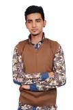 Ganpati textiles Solid V-neck Casual Men...
