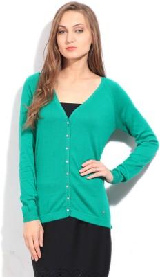Arrow Solid Casual Women's Green Sweater