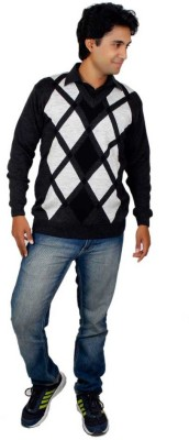 Alpine Enterprises Argyle V-neck Men's Multicolor Sweater
