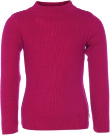 AJ Dezines Solid Round Neck Casual Boys Pink Sweater