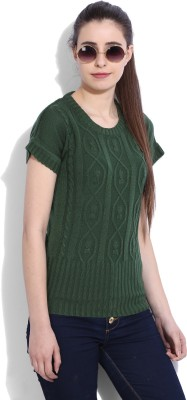 Flying Machine Striped Turtle Neck Casual Women White, Brown Sweater at flipkart