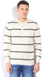 John Players Striped Round Neck Casual M...