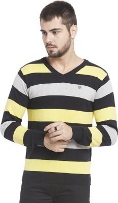 Globus Striped V-neck Casual Men's Multicolor Sweater