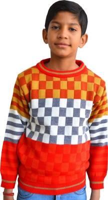 Shaun Solid Round Neck Casual Boy's Multicolor Sweater