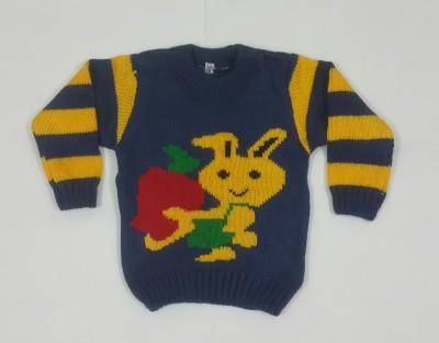 Oshin Woven Round Neck Baby Boy's Dark Blue, Yellow Sweater