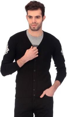 Claude 9 Solid V-neck Men's Black Sweater