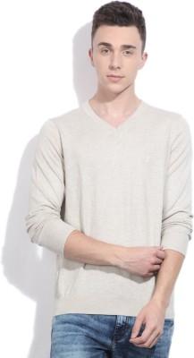 Nautica V-neck Casual Men Beige Sweater