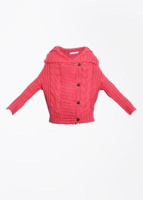 Elle Self Design Casual Women's Pink Sweater