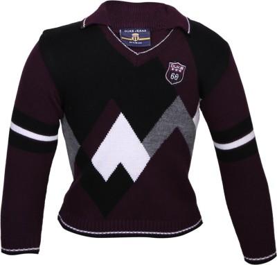 Duke Solid V-neck Casual Women's Black Sweater