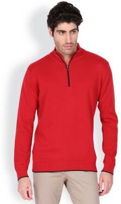 Blackberrys Solid Round Neck Men's Red Sweater