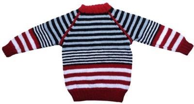 Nonch Le Striped Round Neck Casual Boy,s Blue, Red, White, Black Sweater