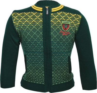 Duke Solid Round Neck Casual Women's Green Sweater