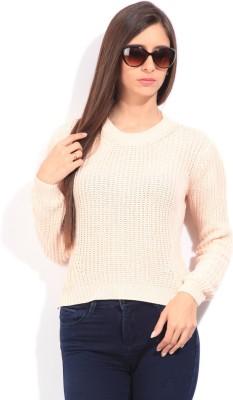 Lee Self Design Casual Women's Pink Sweater