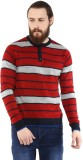 COBB Striped Round Neck Casual Men Red S...
