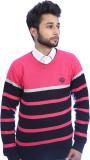 Bhagwan Knitwears Striped V-neck Men Bla...