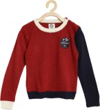 Yk Solid Round Neck Casual Boys Red, Dar...