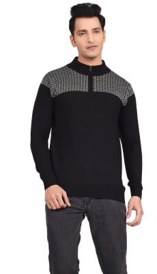 Hoffmen Solid Round Neck Men's Black Sweater